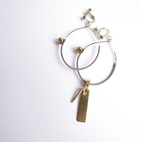 foop key pierce/earrings GRAY