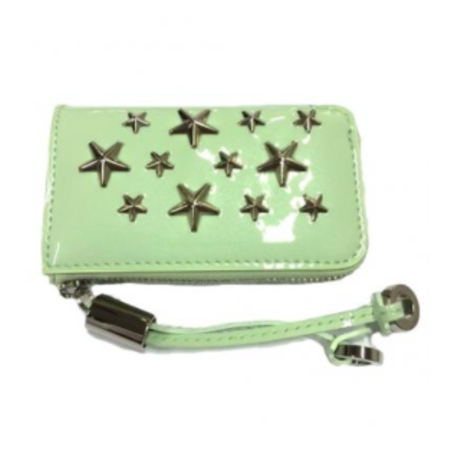 ジミーチュー Jimmy Choo Roma Enamel Patent Coin Purse with Stars