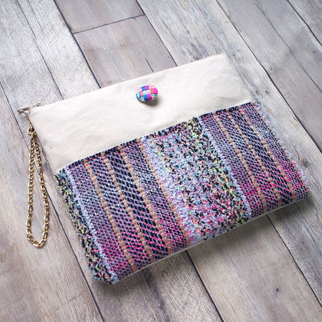 MALHIA KENT CLUTCH&SHOULDER 2WAY  BAG WAFFLE PURPLE